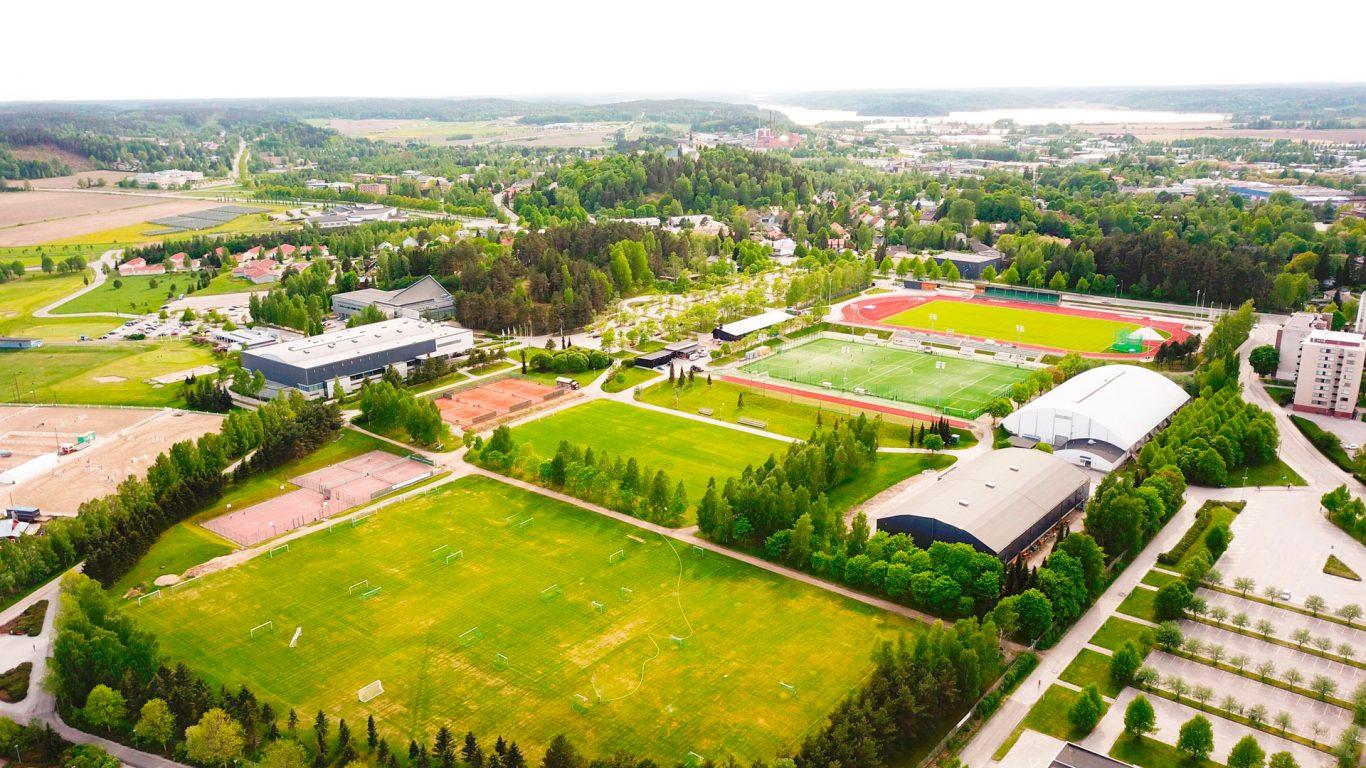 Ilmakuva Salon Urheilupuistosta