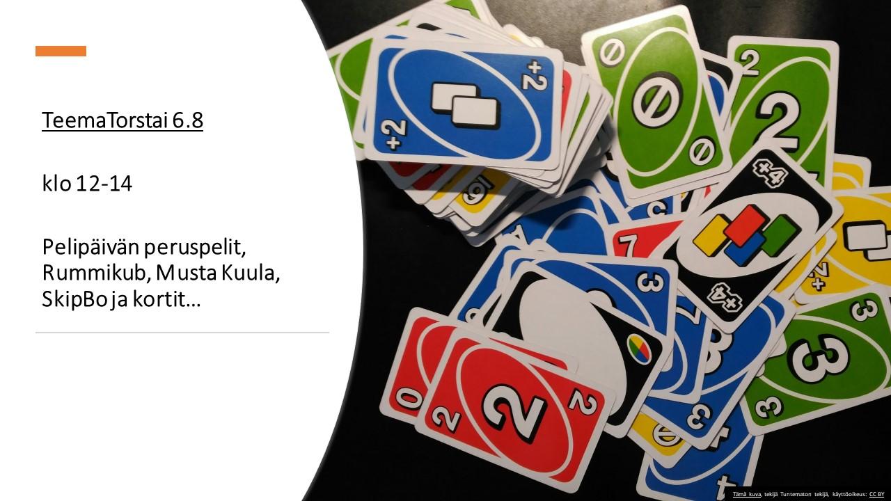 Uno kortti läjä jonka vieressä teksti mainos