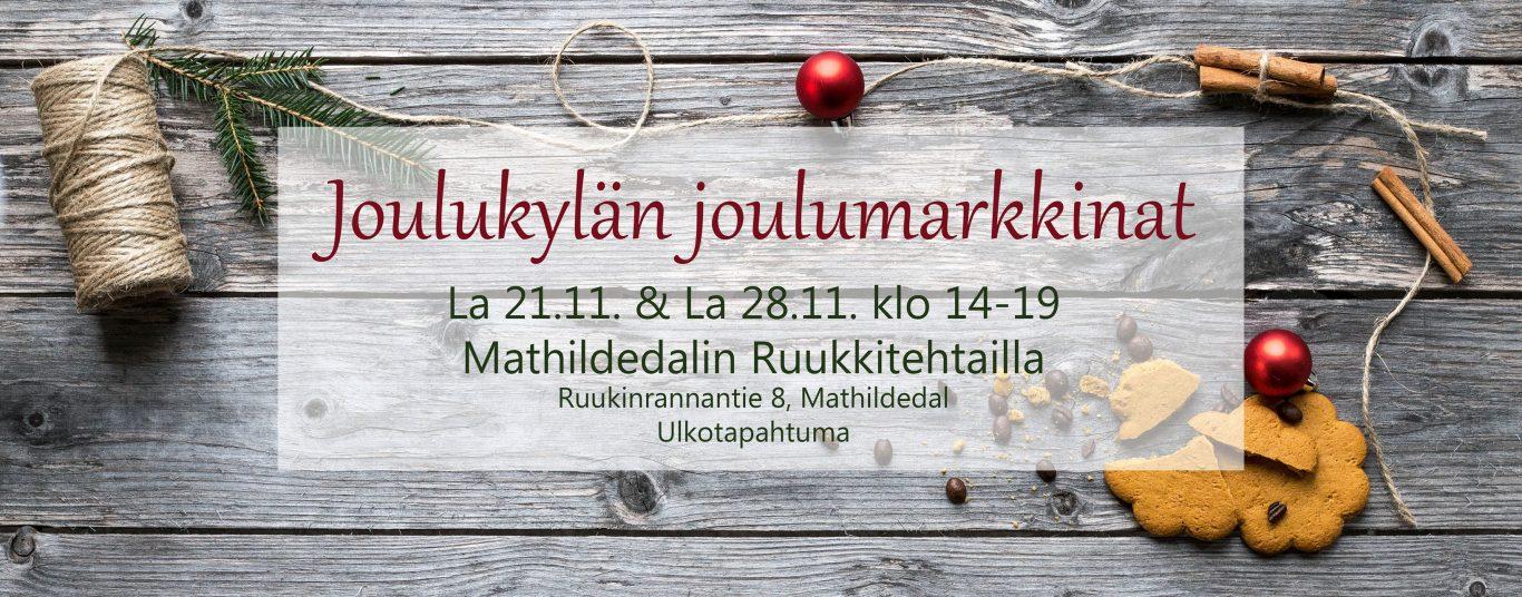 Teijon kansallispuisto, Mathildedal, joulumarkkinat, joulu, joulukylä, joulu, ruukkikylä, ruukki