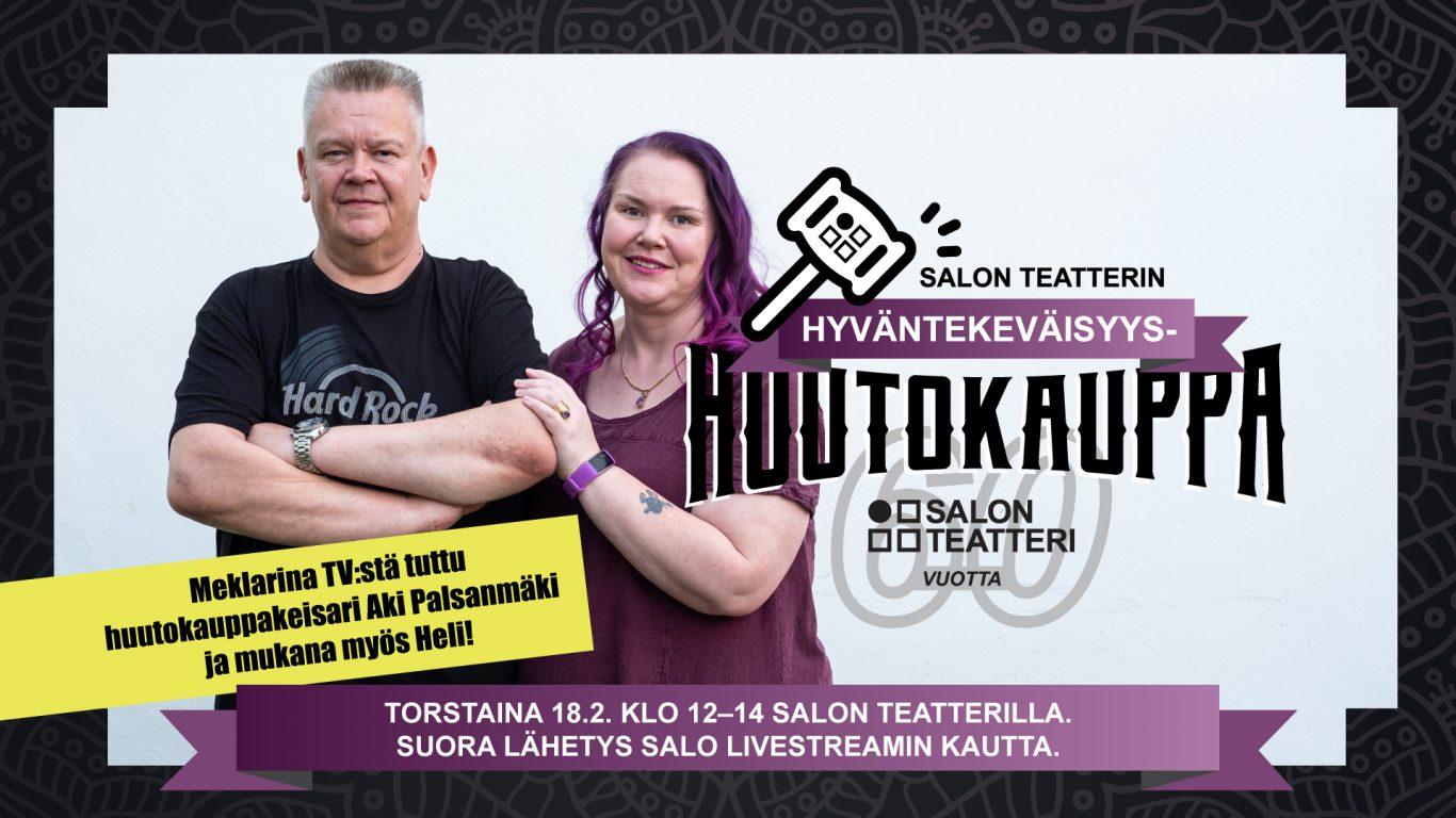 TV:stä tuttu huutokauppakeisari Aki Palsanmäki saapuu Salon Teatteriin