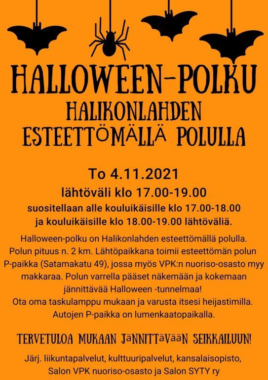 Halloween polku mainos